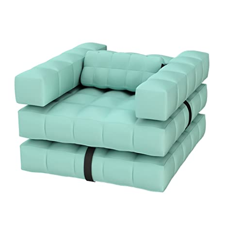 Pigro Felice 1-9211-985-Agreen - Sillón de lujo inflable, 117 x 117 x 72 cm, color verde