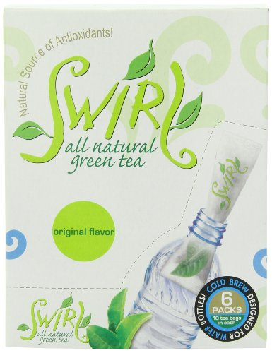 Swirl Green Tea Cold-Brewed On-The-Go, Mixed Pack, 0.71-Ounce (Pack Of 6)