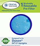1 Dyson DC27 Washable & Reusable Replacement Pre-Filters, Designed To Fit Dyson DC27 (DC-27) DC28 (DC-28) Upright Vacuums, Compare To Dyson Part # 919780-01, Designed & Engineered by Crucial Vacuum