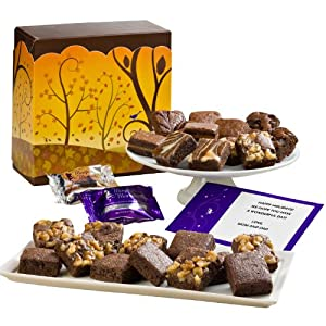 Fairytale Brownies Fall Half Sugar-Free Morsel 24 Gift Box by Fairytale Brownies