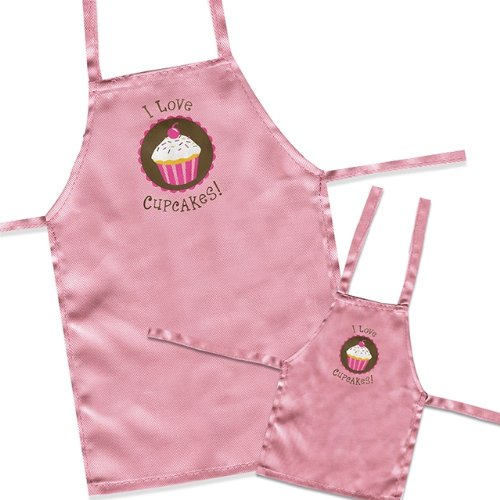 "Sassafras / ""Kitchen Twins"" Matching Child & 18"" Doll Apron Set"