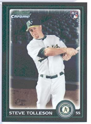 2010 Bowman CHROME Draft Picks Baseball Card # BDP87 Steve Tolleson RC - Oakland Athletics (RC - Rookie Card) MLB Trading Card