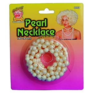 Smiffys 180cm Pearl Necklace Long