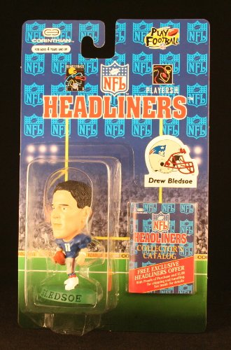DREW BLEDSOE / NEW ENGLAND PATRIOTS * 3 INCH * 1996 NFL Headliners Football Collector Figure