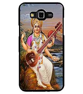 ColourCraft Maa Saraswati Design Back Case Cover for SAMSUNG GALAXY GRAND MAX G720