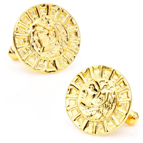 Alexander the Great Greek Drachm Replica Cufflinks