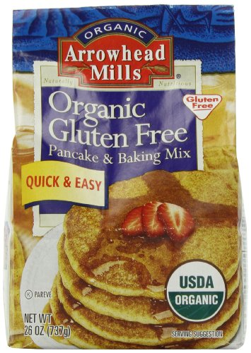 Arrowhead Mills Organic Gluten Free Pancake & Baking Mix, 26 Ounce (Organic Muffin Mix compare prices)