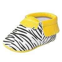 Weixinbuy Newborn Baby PU Leather Tassel Soft Sole Prewalker Crib Shoes