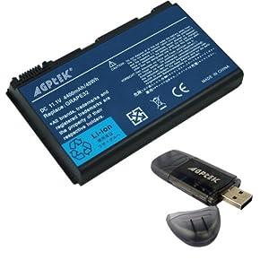6 Cells Replacement Acer Extensa 5210 5220 5620G 5620Z series Laptop Battery TM00741 TM00751 laptops w/ a AGPtek® USB2.0 SD card reder --Replacement Battery