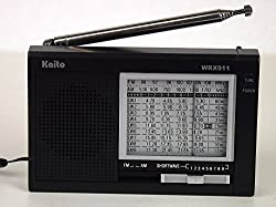 Kaito Electronics Inc. WRX911BLK Analog AM/FM/SW World Receiver - Black