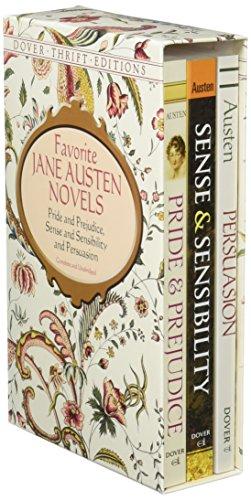 Favorite Jane Austen Novels: Pride and Prejudice, Sense and Sensibility and Persuasion (Dover Thrift Editions), Austen, Jane