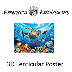Amazoncom Sea Turtles 3D Poster Room Decoration By Impact Designs 46976 3DF Toys amp Games