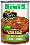 Health Valley Organic Chili Tame Tomato, No Salt added, 15 Ounce Cans (Pack of 12)