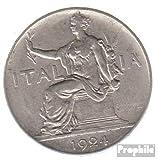 Italia km-No.. : 62 1922 muy ya Nickel 1922 1 Lira sedentaria mujer (monedas para los coleccionistas)