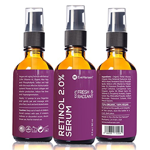 2 oz Retinol (Vitamin A) - Facelift in a Bottle #3 - 100% Vegan Anti Aging Serum - SEE RESULTS OR MONEY-BACK - Big 2 ounce (Twice the Size) Wrinkle Erasing Formula - SOFTEN YOUR SKIN INSTANTLY! (Prescription Glasses Repair Kit compare prices)