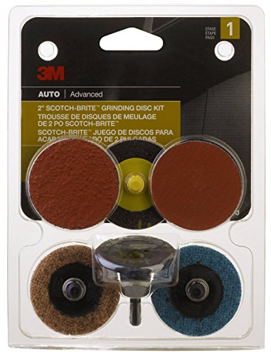 3M 03050 Scotch-Brite 2″ Regalite Drill Mounted Automotive Grinding/Sanding/Finishing System