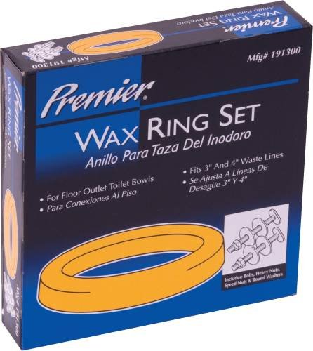 191300 PREMIER WAX RING SET WITH BOLTS