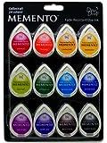 Tsukineko 12-Piece Assortment Memento Dew Drops Fade-Resistant, Gum Drops