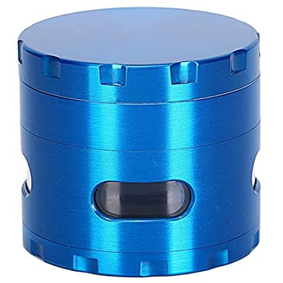 DCOU New Design Premium Weed Grinder 2.2 Inches 4 Piece Tobacco Grinder with Pollen Catcher Durable Zinc Alloy Herb Grinder Spice Grinder (Blue)