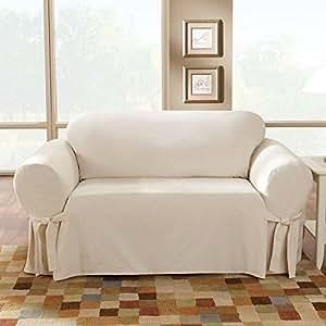 Amazon Sure Fit Cotton Duck Sofa Slipcover Natural