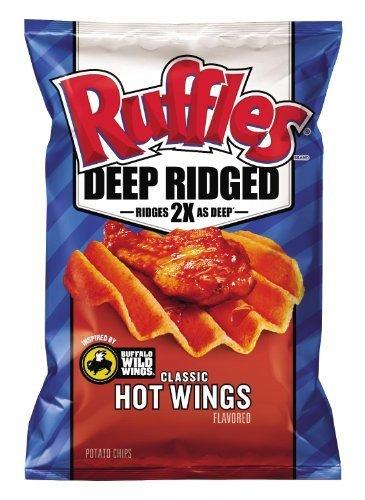 Frito Lay, RUFFLES?, Deep Ridged, Classic Hot Wings Flavored Potato Chips, 7.5oz Bag (Pack of 3) by Frito Lay