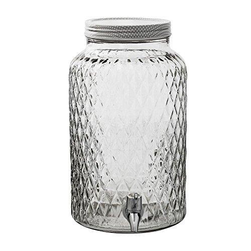 Bloom ingville Pichet en verre avec robinet Gris/Blanc