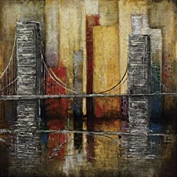 26W x 26H Urban Trend I by Suzanne Etienne - Stretched Canvas w/ BRUSHSTROKES