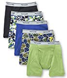 Fruit of the Loom Little Boys' 5 pack Boxer Brief, Colors may vary
