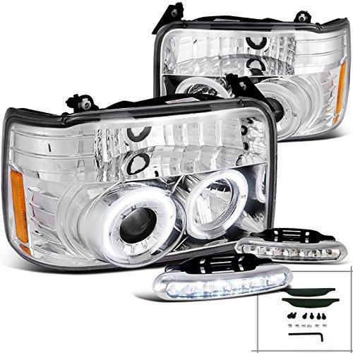 Ford Bronco F150 Halo Chrome Projector Headlights+Bumper Led Fog