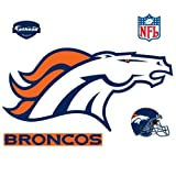 Denver Broncos NFL Fathead REAL.BIG Wall Logo
