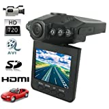 Portable 2.5 Inches LCD HD 720P 6 IR LEDs Nightvision Car DVR Support HDMI Output