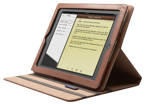 Cygnett Leather Folio with Multi-View Stand for iPad 2 (CY0300CIWIN)