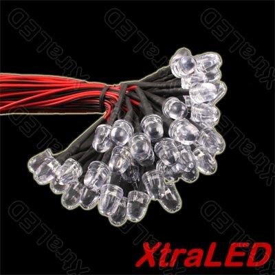 12Vdc 30Cm Wire Ultra Bright White 8Mm Led