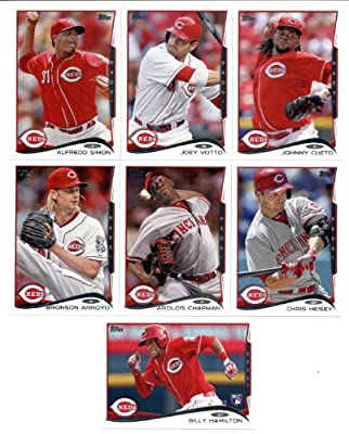 2010,2011,2012,2013 & 2014 Topps Cincinnati Reds Baseball Card Team Sets (Complete Series 1 & 2 From All Five Years )- Includes Billy Hamilton Rookie Card