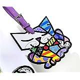 Giftcraft Romero Britto Sugar the Cat Luggage Tag