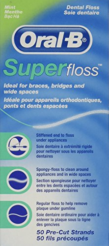 OralB Super Floss Mint Pre-Cut Strands (2 Pack) (Dental Super Floss compare prices)