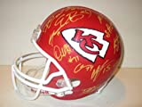 2013 Kansas City Chiefs Team Autographed / Signed Riddell Full Size Football Helmet with 36 Signatures Total, Proof Photos