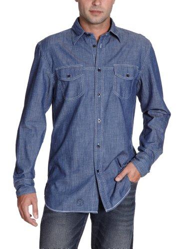 H.I.S Jeans Men's His-123-04-504 Casual Shirt Blue (4018; Pliant Blue) 56/58