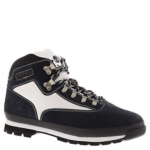 Timberland Men'S Navy Nubuck With White Cordura Ecomade F Leather And Fabric Euro Hiker 11 D(M) Us