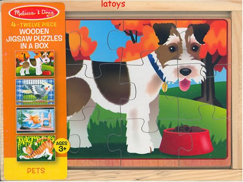 Melissa & Doug Deluxe Pets in a Box Jigsaw Puzzles - Buy Melissa & Doug Deluxe Pets in a Box Jigsaw Puzzles - Purchase Melissa & Doug Deluxe Pets in a Box Jigsaw Puzzles (Melissa & Doug, Toys & Games,Categories,Preschool,Pre-Kindergarten Toys,Puzzles)