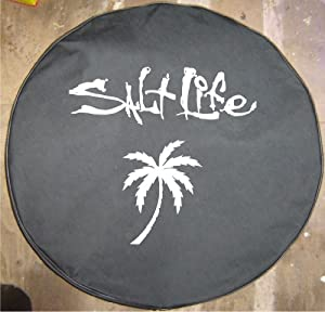 "Amazon.com: 33"" Salt Life Black Denim Tire Cover 4 Hummer ..."