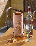 Terracotta-Weinkhler-mit-Unterteller