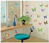 Vibrant Butterflies in Flight - Reusable Instant Decor Self-Adhesive Matte Vinyl Sticker Decal (DESIGN 1, 1)