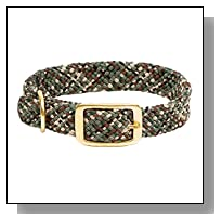 Mendota Products Double Braid Dog Collar, Camo, 9/16 x 12-Inch