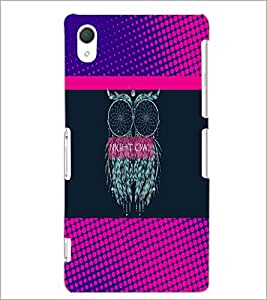 PrintDhaba Owl D-3532 Back Case Cover for SONY XPERIA Z3 (Multi-Coloured)