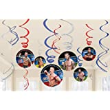 Amscan WWE 12-Foil Swirl Decorations