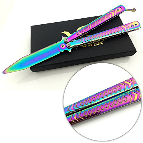 """VE POWER 5"""" Inch Multicolored Carving Knife Handle Practice Knife Trainer(no offensive blade)"""
