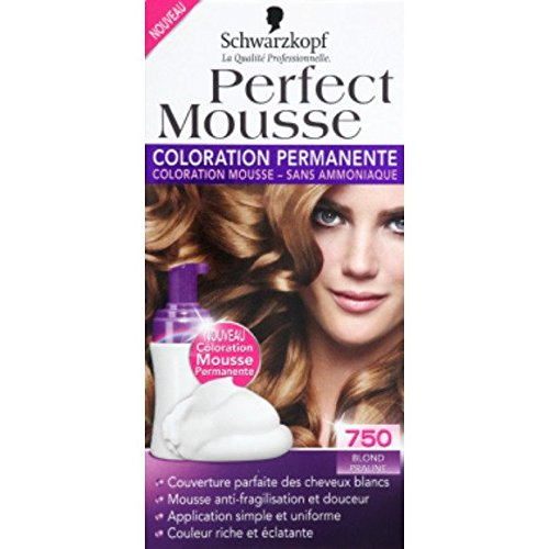 schwarzkopf coloration mousse permanente sans ammoniaque blond praline 750 ltui - Mousse Colorante Schwarzkopf