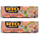 Rio Mare Tuna Fish Imported From Italy. Italy's Number 1 Tuna - The Best Imported Italian Tuna - 6 - 3 Oz - Cans