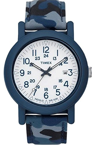 Timex Originals T2P290 Mens Blue Camo Camper Watch timex t2m875